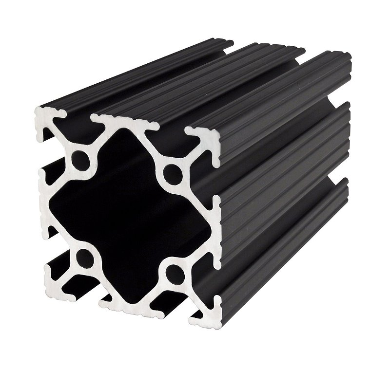 The 80 20 Aluminum Extrusions Are Much Stronger Than Wood Each Face Of 2x2 Extrusion Has Two Channels That Accept Sliding In Fasteners